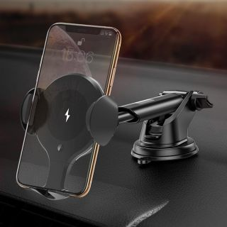Qi Car Wireless Charger Car Mount Induction Infrared Fast Wireless Charging