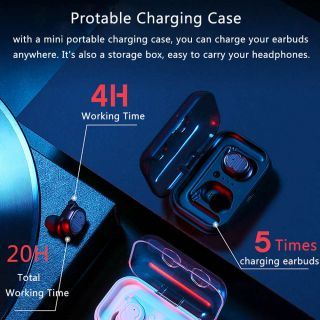 Touch Control Wireless Bluetooth Earbuds  IPX5 Waterproof Bass 6D Stereo Head-free