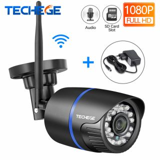 Techege Wireless Camera Night Vision Waterproof Camera TF Card Storage